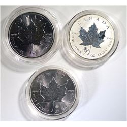 3 - 2014 SILVER MAPLE LEAFS 1oz .9999