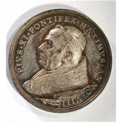 SILVER PAPAL MEDAL POPE PIUS XI ANNO VIII