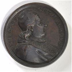 BRONZE PAPAL MEDAL POPE BENEDICT XIV ANNO X