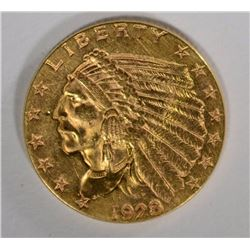 1928 $2.50 GOLD INDIAN CHOICE BU