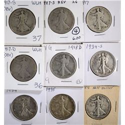 WALKING LIBERTY 50c; 1917-S OBV, 1917-S REV,