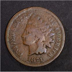 1871 INDIAN CENT, GOOD - KEY DATE