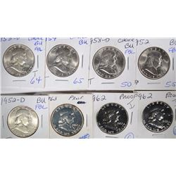 FRANKLIN 50c; 2-1962 PROOF; 1963 PROOF;