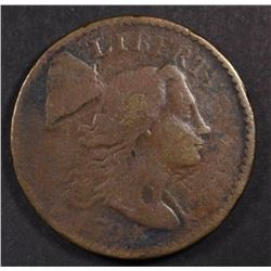 1794 LIBERTY CAP LARGE CENT, VG/AG