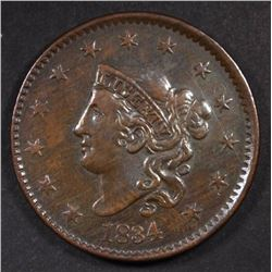 1834 LARGE CENT, VF