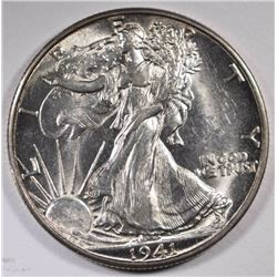 1941-D WALKING LIBERTY HALF DOLLAR, GEM BU