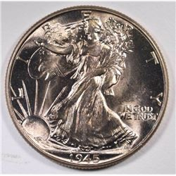 1945 WALKING LIBERTY HALF DOLLAR, GEM BU