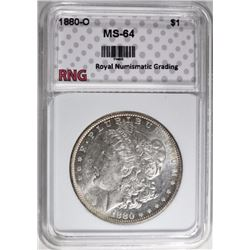 1880-O MORGAN DOLLAR RNG CH/GEM BU