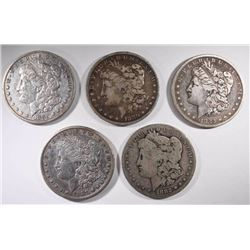 1880, 80-S, 82-O, 82-S & 87-S CIRC MORGAN DOLLARS
