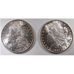 2-CHOICE BU 1887 MORGAN DOLLARS