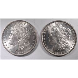 1879 & 1886 MORGAN DOLLARS BU