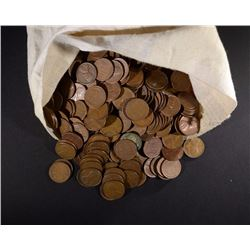 2500 MIXED CIRC LINCOLN WHEAT CENTS IN BAG