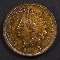 1904 INDIAN HEAD CENT, CH BU