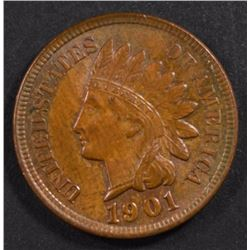 1901 INDIAN HEAD CENT, CH BU