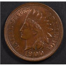 1900 INDIAN HEAD CENT, CH BU SOME RED
