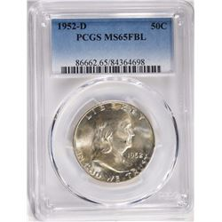 1952-D FRANKLIN HALF, PCGS MS-65 FBL
