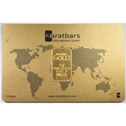 KARAT BARS 5gram 999.9 GOLD BAR