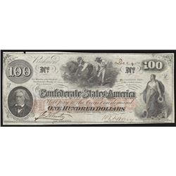 1862 $100 Confederate States of America Note