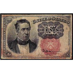 1874 Ten Cents Fifth Issue Fractional Note