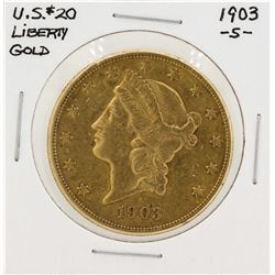1903-S $20 Liberty Head Double Eagle Gold Coin