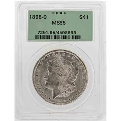 1898-O $1 Morgan Silver Dollar Coin PCGS MS65