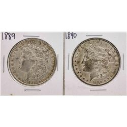 Set of 1889-1890 $1 Morgan Silver Dollar Coins