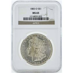 1883-O $1 Morgan Silver Dollar Coin NGC MS65