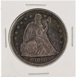 1860-O No Motto $1 Seated Liberty Silver Dollar Coin