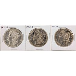 Set of 1879-S to 1881-S $1 Morgan Silver Dollar Coins