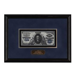 Framed 1891 $20 Silver Certificate Note