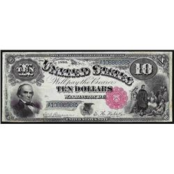 1880 $10 Jackass Legal Tender Note
