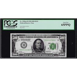 1928 $500 Federal Reserve Note St. Louis PCGS Gem New 65PPQ