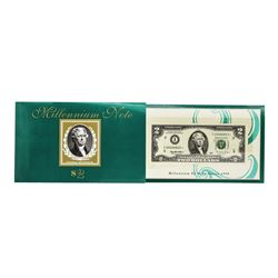 1995 $2 Federal Reserve Millenium STAR Note Minneapolis