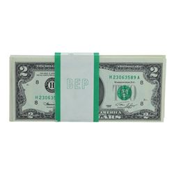 Pack of (81) 1976 $2 Federal Reserve Notes Uncirculated St. Louis