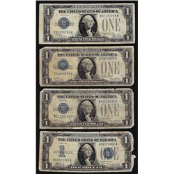Lot of (4) 1928 $1 Funnyback Silver Certificate Notes