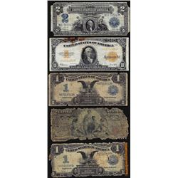 Assorted Lot of (5) Large Size Type Notes
