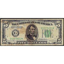 1934D $5 Federal Reserve STAR Note