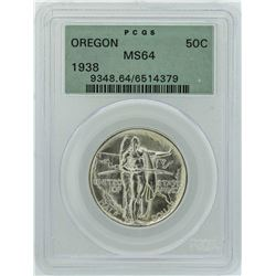 1936-S Oregon Trail Memorial Commemorative Half Dollar Coin PCGS MS64