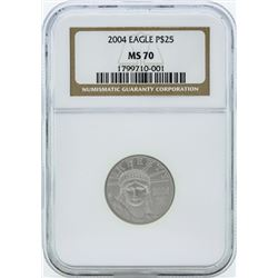 2004 $25 American Platinum Eagle Coin NGC MS70