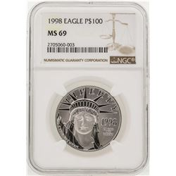 1998 $100 American Eagle Platinum Coin NGC MS69