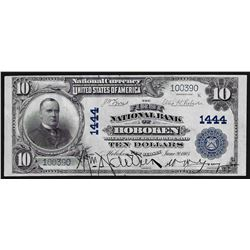 1902 $10 First National Bank of Hoboken, NJ National Currency Note