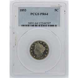 1893 Liberty V Nickel Proof Coin PCGS PR64