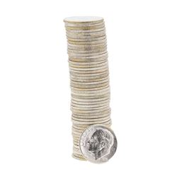 Roll of (50) 1956-P Brilliant Uncirculated Roosevelt Dimes