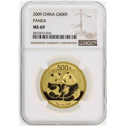 2009 China 500 Yuan Panda Gold Coin NGC MS69