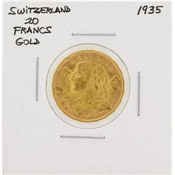 1935 Switzerland 20 Francs Gold Coin