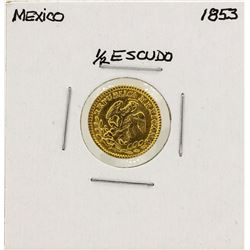 1853 Mexico 1/2 Escudo Gold Coin