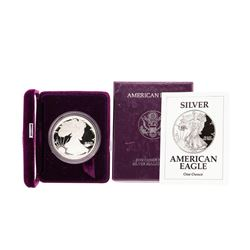 1992 $1 American Silver Eagle Proof Coin w/ Box and COA