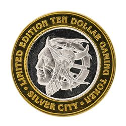 .999 Silver Silver City Las Vegas, Nevada $10 Limited Edition Gaming Token