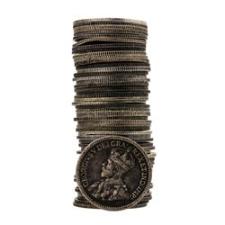 Assorted Roll of (50) 1858-1921 Canadian Nickels