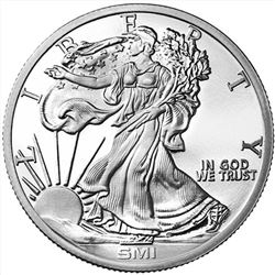 1 oz Sunshine Walking Liberty Silver Round